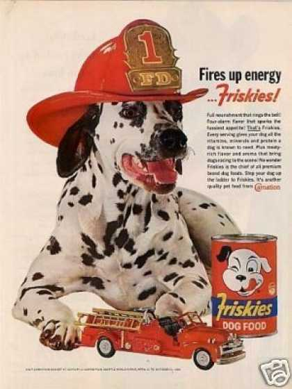Friskies Dog Food Ad Dalmatian (1962)