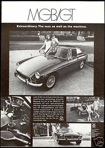 MG MGB / GT 4 Photo Views Vintage Car (1970)