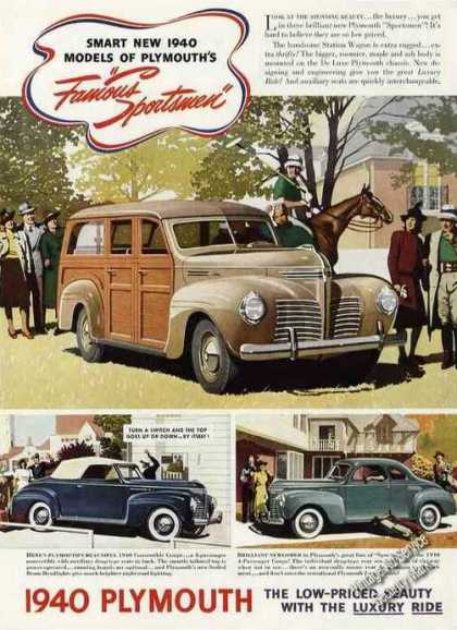 "Plymouth ""Famous Sportsmen"" Rare Color Cars (1940)"