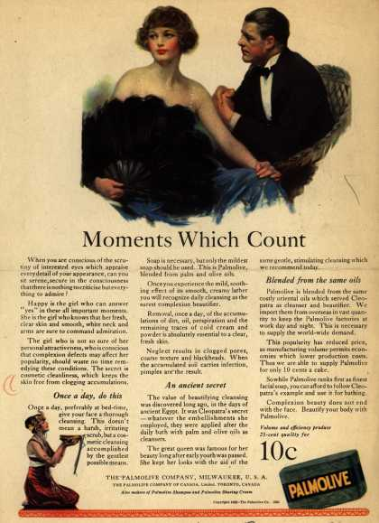 Palmolive Company's Palmolive Soap – Moments Which Count (1922)