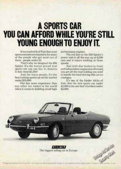 Fiat 850 Spider Still Young Enough To Enjoy It (1971)