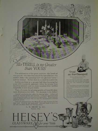 Heisey's Glassware for your table His Thrill no greater than yours (1926)