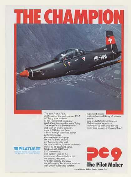 Pilatus PC-9 Turboprop Trainer Aircraft Photo (1984)