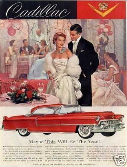 "Cadillac Car Ad ""Mabey This Will Be... (1955)"