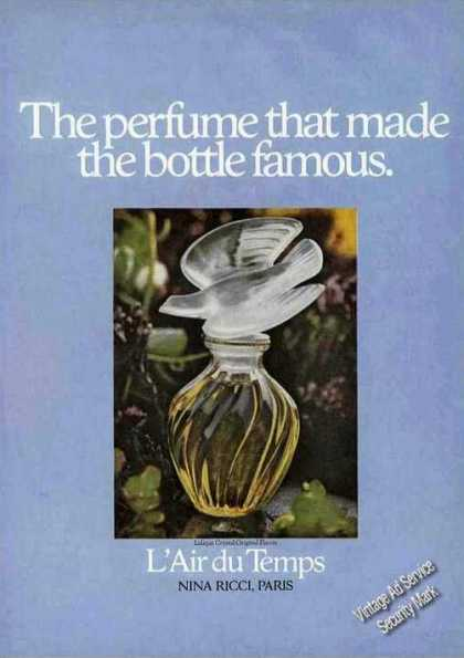 L'air Du Temps Perfume That Made Bottle Famous (1975)