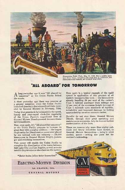 GM's Diesel Power locomotives (1947)