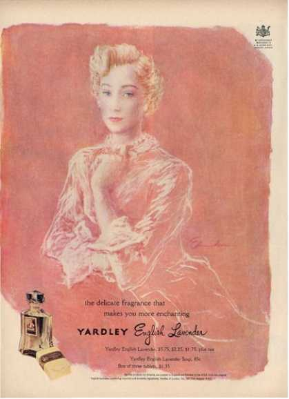 Yardley English Lavender Artwork Ad T (1949)