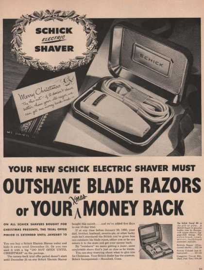 Schick Electric Shaver Outshave (1949)