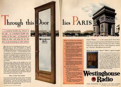 Westinghouse Electric & Manufacturing Company's Radio – Through This Door Lies Paris (1930)