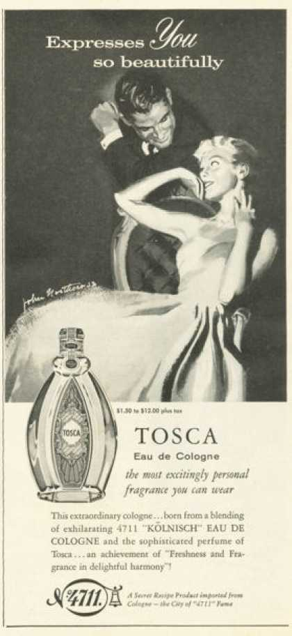 Tosca Eau De Cologne Bottle (1958)
