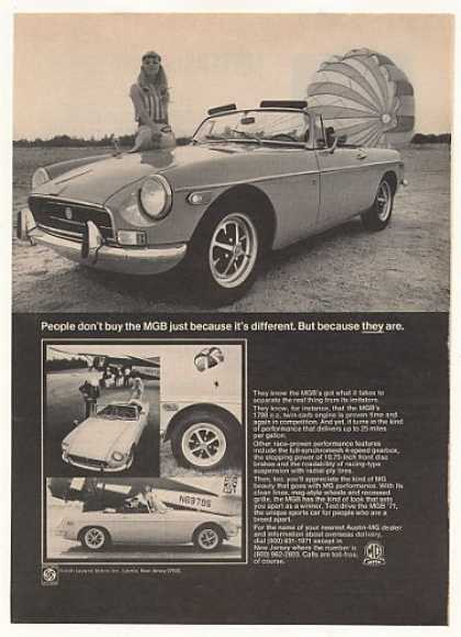 MGB People Buy Different Skydiving Photo (1971)