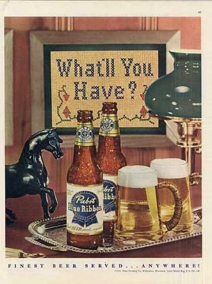 Pabst Blue Ribbon Beer (1951)