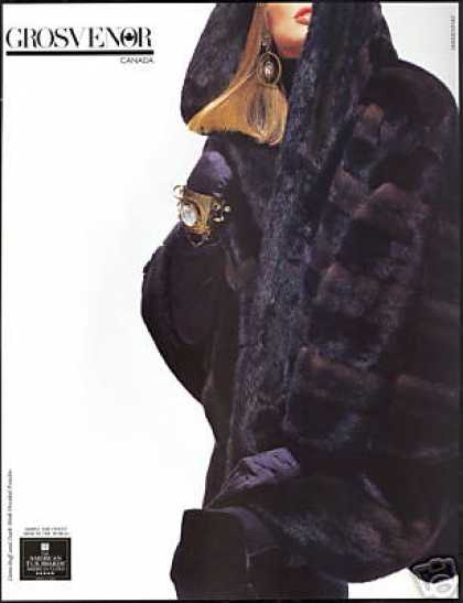 Mink Hooded Poncho Grosvenor American Fur (1991)