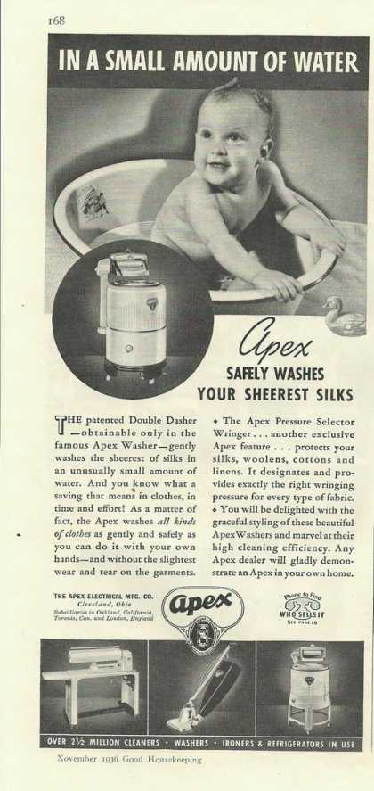 Apex Cleaners Washer & Refrigerat (1936)