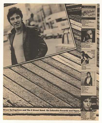Bruce Springsteen Columbia Records Photo (1981)