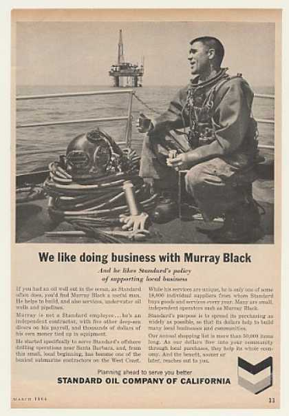 Deep Sea Diver Murray Black Standard Oil (1964)