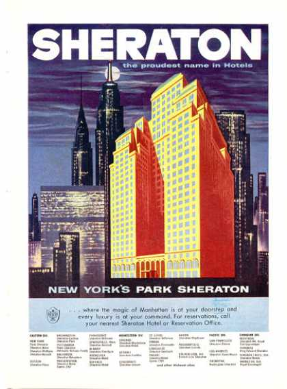 New York Sheraton Park Hotel Manhattan (1971)