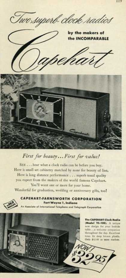 Capehart Farnsworth Clock Radio (1952)