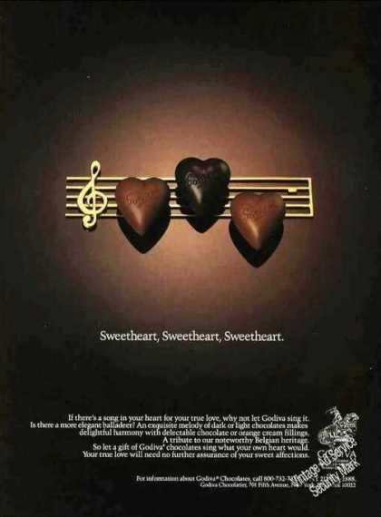 Sweetheart, Sweetheart, Godiva Chocolates (1991)