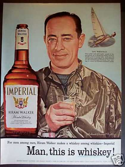 Sailing Canoe Racer Lou Whitman Imperial Whisky (1956)
