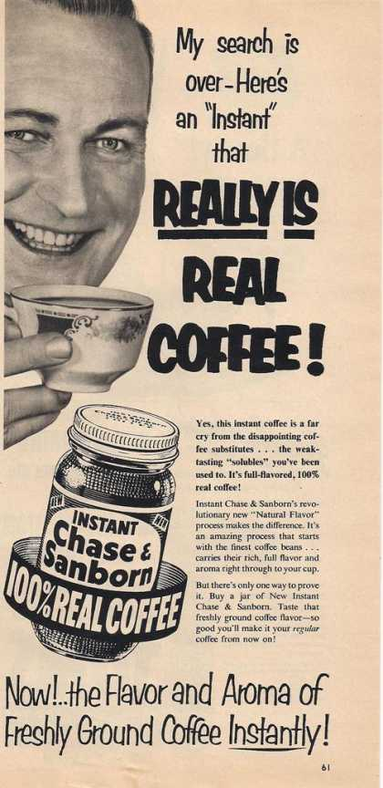 Instant Chase & Sanborn Coffee (1953)