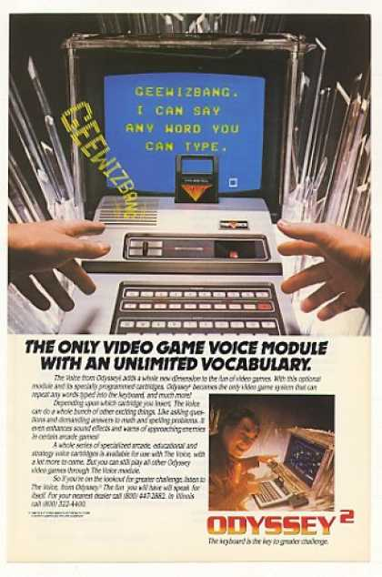 Odyssey Video Game The Voice Module (1982)