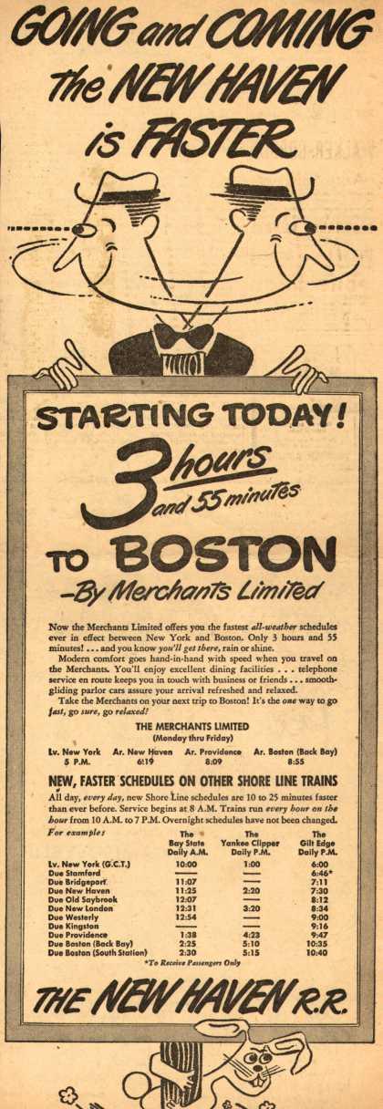 New Haven Railroad's Boston – Going and Coming the New Haven is Faster (1949)