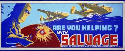 Are you helping? with salvage. (1941)