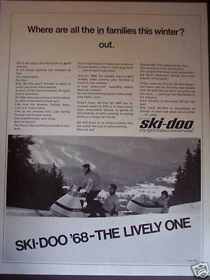 Bombardier Ski-doo Snowmobile Towing Sleigh (1967)