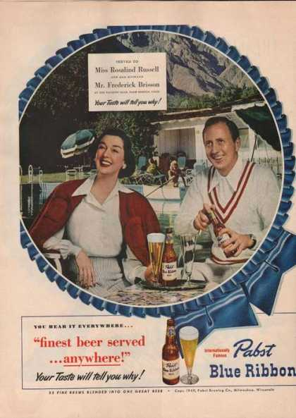 Pabst Blue Ribbon Beer (1949)