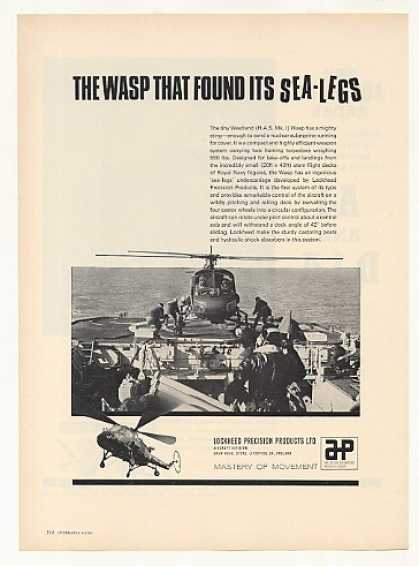'66 Westland Wasp Lockheed Sea Legs Helicopter Photo (1966)