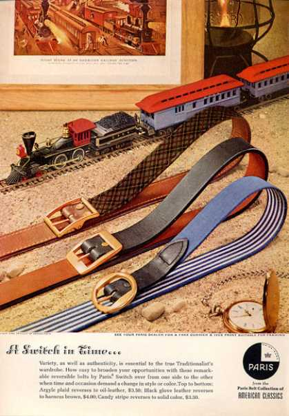 Paris Fashion Belts Model Train (1964)