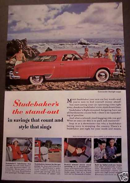 Red Studebaker Car Auto (1949)