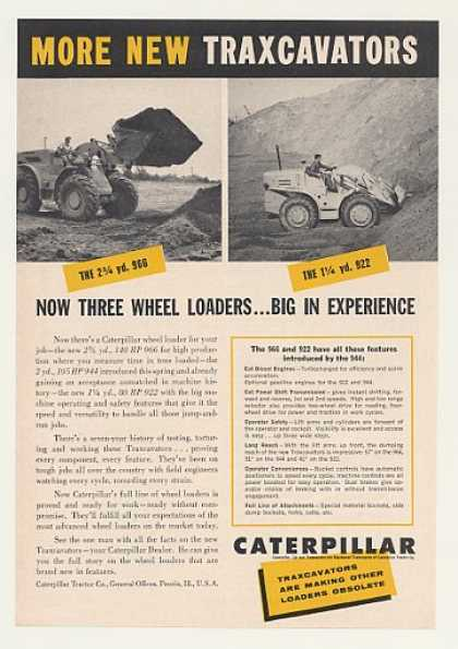 Caterpillar 966 922 Traxcavators Loaders (1960)