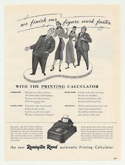 Remington Rand Printing Calculator Quartet (1949)