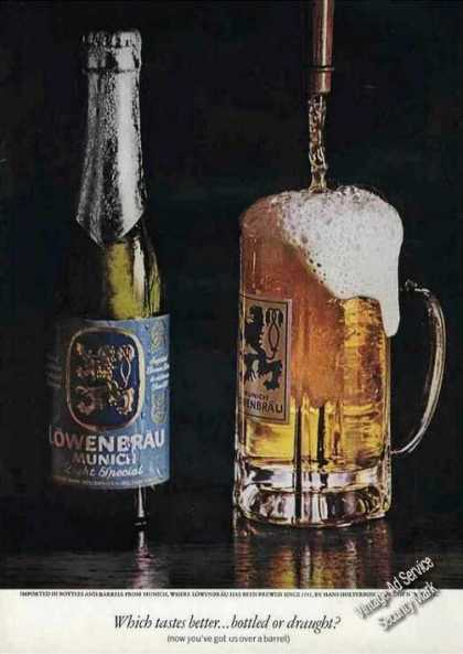 "Lowenbrau Beer ""Bottled or Draught"" Nice (1964)"