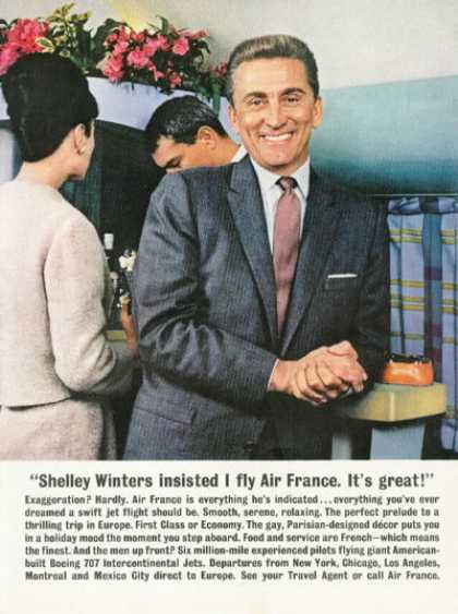 Air France Travel Kirk Douglas (1961)