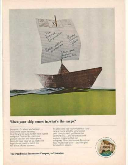 Prudential Ins When Ship Comes In What's Cargo (1965)