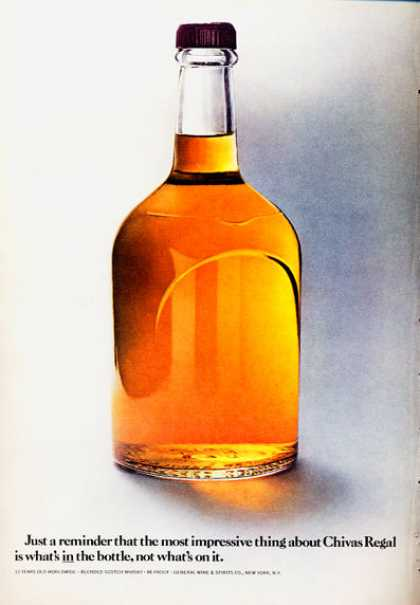 Chivas Regal Whisky Bottle (1972)