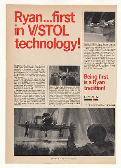 Ryan Vertifan V/STOL Military Aircraft (1967)