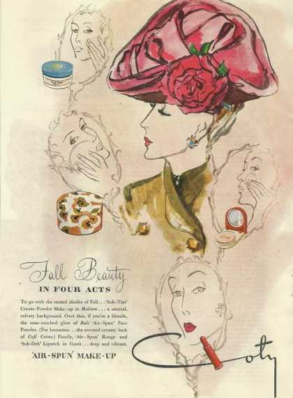 Coty Air Spun Face Make Up (1945)