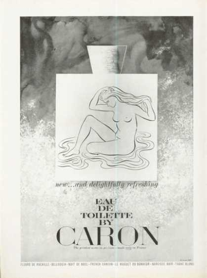 Caron Eau De Toilette – Nude Illustration (1961)