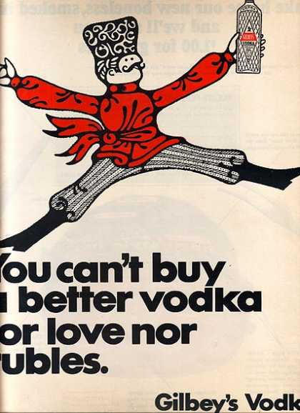 Gilbey's 80 proof Vodka (1967)
