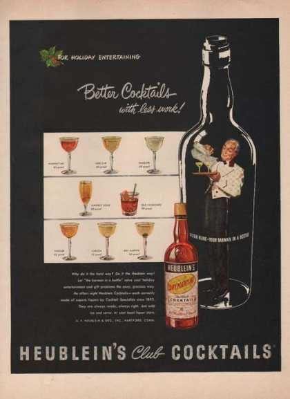 Heubleins Club Cocktails (1949)