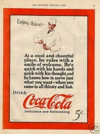 Coca-cola Color Ad 'enjoy Thirst... (1923)