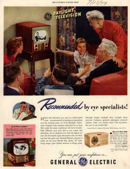 General Electric Company's Various – GE Daylight Television, Recommended by eye specialists (1949)