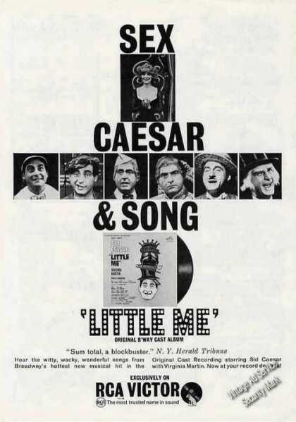 Sex Caesar & Song Little Me B'way Cast Album (1963)