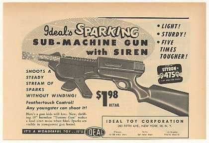 &#8217;53 Ideal Toy Sub-Machine Gun with Siren (1953)