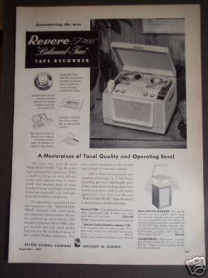 Revere T-700 Balanced Tone Tape Recorder (1952)