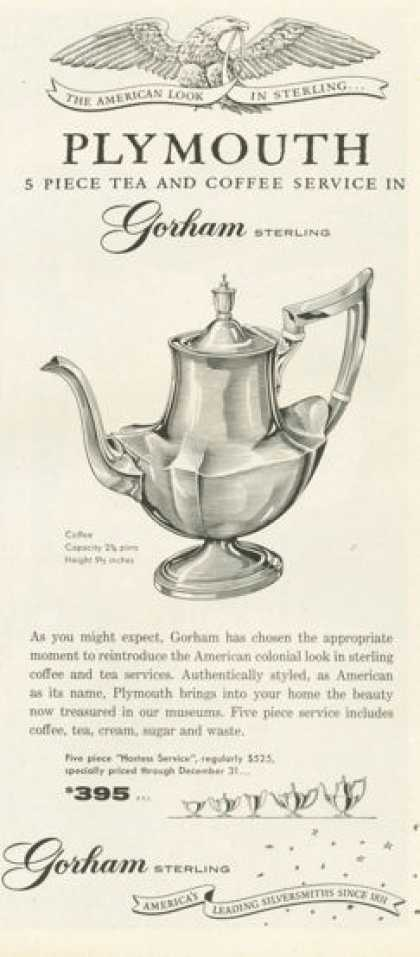 Gorham Sterling Silver Tea Coffee Service (1958)